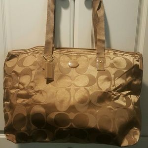 Coach Weekender bag with snap in pouch NWOT